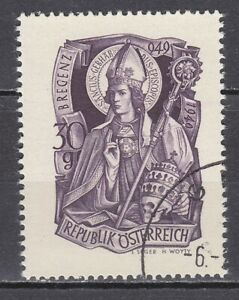 AUSTRIA used 1949 SC# Nr 564 St.Gebhard - Bishop of Vorarlberg