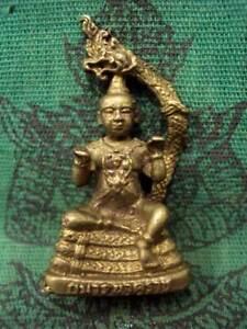 Kuman Naga Magic Boy LP Lersi Lucky Talisman Dragon Wealth Charm Thai Amulet