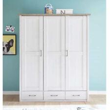 Kleiderschrank Luca Schrank für Babyzimmer in Pinie weiß und Trüffel 148 cm