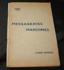 Cie Des Messageries Maritimes Handbook 1922 Guide