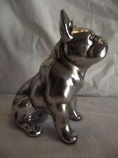 Statue de Décoration  - Chien  BOULEDOGUE FRANCAIS couleur gris GM