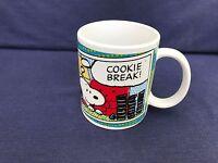 1 Coffee Mug Cup Peanuts Snoopy Cookie Break Cartoon Characters Collectible Good