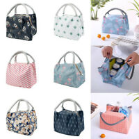 Waterproof Canvas Lunch Bags Insulated Thermal Cooler Student Bento Zipper Bag