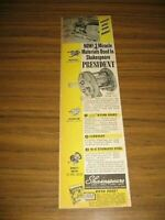 1951 PAPER AD Shakespeare Marhoff President Bait Casting Fishing Reel