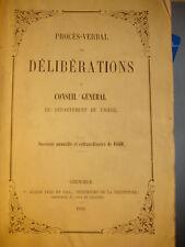 Procès-verbal des délibérations du conseil général de l'Isère 1850
