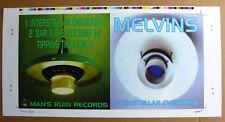 """MELVINS Interstellar Overdrive 10"""" UNCUT Album Cover Slick SIGNED Numbered KOZIK"""