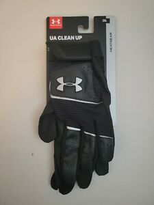 New Under Armour UA CLEAN UP HEATGEAR Baseball Batting Gloves Adult Size Small