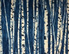 Timeless Treasures ICE (SNOW-Trees) 100% Cotton Prem Quilt Fabric-Per 1/2 Yd