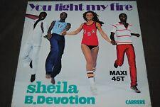 """Nouvelle annonce SHEILA B.DEVOTION """"You Light My Fire"""" MAXI 12"""" VINYL / CARRERE RECORDS - 8026"""