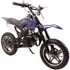 Performance 49cc 2-Stroke GAS Power Mini Pocket Dirt Bike Free Shipping - Blue