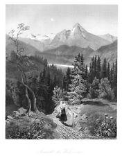 Watzmann, Berg in Bayern, Ansicht, Original-Stahlstich von 1859
