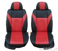 FRONT LEATHERETTE BLACK SEAT COVERS FOR VW SHARAN TOURAN TOUAREG CRAFTER CADDY