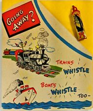 Buzza Cardozo Going Away Card with Tin Whistle Japan Unused with Original Wrap