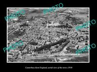 OLD 6 X 4 HISTORIC PHOTO OF CANTERBURY KENT ENGLAND AERIAL VIEW OF TOWN c1930 1