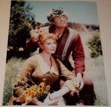FESS PARKER & PATRICIA BLAIR / DANIEL BOONE TV /  8 x 10  COLOR  PHOTO