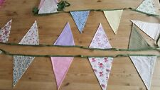Vintage style bunting *handmade*wedding*country*floral*pink*green*cream*decor