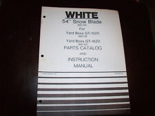 """White 54"""" Snow Blade Operator's Manual for GT-1020 GT-1620 Lawn Tractor"""