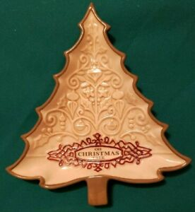 Christmas Accent Plate Oh Christmas Tree 7x6 inches 462169