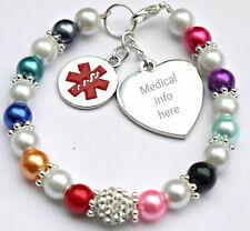 Warfarin /Blood Thinner Bracelet Medical Alert  Badge Health Survival Women Kid