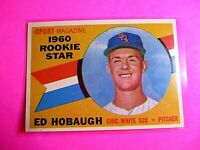 1960 TOPPS baseball Set Break #131 Ed Hobaugh White Sox, NmMt High Grade