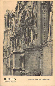 Reims Cathedral War Damage postcard RP Antony Thouret  Un-Posted 1918 A04