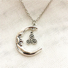 Teen wolf necklace teen wolf symbol necklace Moon Necklace Jewelry Fantasy