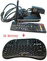 Android 4 Quad Core Mini PC Smart TV Dongle WIFI LAN 8GB HDMI + Black Keyboard