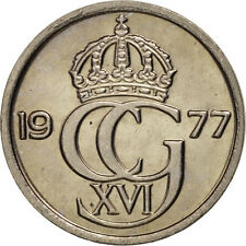 [#98318] Sweden, Carl XVI Gustaf, 10 Öre, 1977, Copper-nickel, KM:850