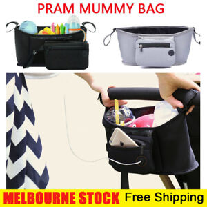 Baby Stroller Storage Bag Mummy Pram Organiser Caddy Pushchair Bottle Holder AU