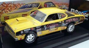 Ertl 1/18 Scale 21068P - Arlen Vanke 1971 Plymouth Duster - Yellow/Black