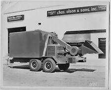 1950s FORD Chas Olson & Sons 8x10  Photo Huge trailer Wood Chipper Tree Trimming