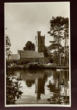Somerset NETHER STOWEY Church & Fishpond used 1941 RP PPC