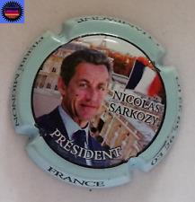 Capsule de Champagne PIERRE MIGNON Cuvée Nicolas Sarkozy Contour Bleu Pale !!!