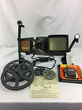 8mm Movie Film Editor Viewer Hudson Dual Eight Bulb Works & New Splicer & Reels