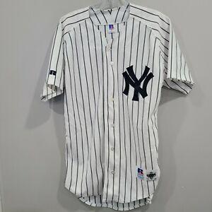 Rare Vintage 90s Russell Diamond Co New York Yankees Pinstripe Jersey Men 40 M