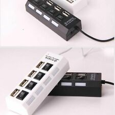 4 Port Powered USB HUB 2.0 High Speed USB Splitter Extension For PC Laptop UK