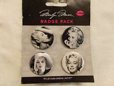Marilyn Monroe Badge Pack Buttons 2 New- 4 Pks