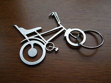 Raleigh Chopper, Tomahawk,  Retro 70's  2mm Stainless Laser Cut Key Ring