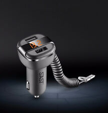 Dual USB Car Charger Adapter LED Display Fast Charging for iPhone Samsung HOT