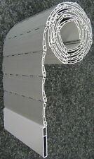 Rollladen Ersatz Lamelle Maxi Maßanfertigung PVC grau Breite 115 cm