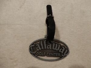 Callaway Bag Tag - Metal with leather strap