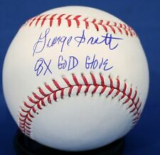 """Signed George Scott """"8 x Gold Glove"""" Official Rawlings Major League Baseball"""