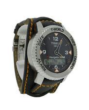 Tissot T-Touch Navigator 3000 T96146832 Men's World Timer Chrono Date Bund Watch