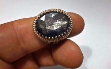 Turkish Ottoman Natural Labradorite Gemstone 925 Sterling Silver Men Ring