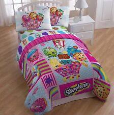 **NEW SHOPKINS TWIN /FULL COMFORTER & 3 pc Twin Sheet Bedding Bed Blanket Set