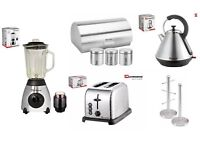SQ Pro.Toaster, Kettle,Bread bin & Mug Tree Set or single piece (Silver)