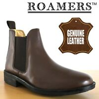 Roamers 'Urban City' Men's Twin Gusset Brown Leather Chelsea Dealer Ankle Boots