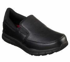 Womens Skechers 77236 NAMPA ANNOD Non Skid Slip On Resistant Work Shoes Black
