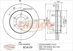 Disc Brake Rotor-4WD Front Fremax BD4109