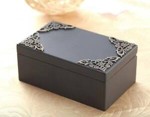 Black Vintage Rectangle Music Box : WHAT A WONDERFUL WORLD